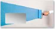 Briefhüllen DIN Lang. Motiv Blaue Rolle.
