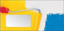 Malerbriefhüllen DIN Lang. Motiv Gelbe Rolle
