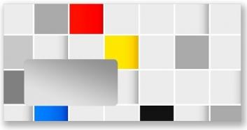 Malerbriefhüllen DIN Lang. Motiv Quadrate.