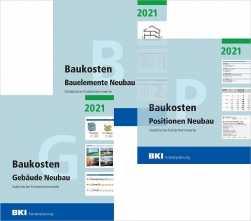 BKI Baukosten Neubau 2021. 3 Bände - Gesamtpaket.