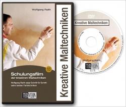 Kreative Maltechniken - Schulungsfilm auf DVD.