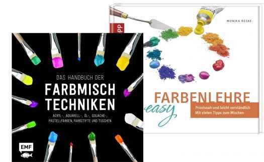 Farbmischungen und -techniken.