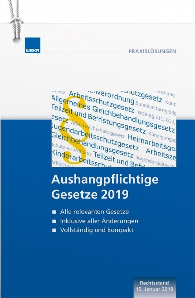 Aushangpflichtige Gesetze 2019