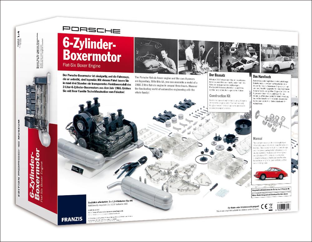 PORSCHE 6-Zylinder-Boxer-Motor. Bausatz Funktionsmodell ...