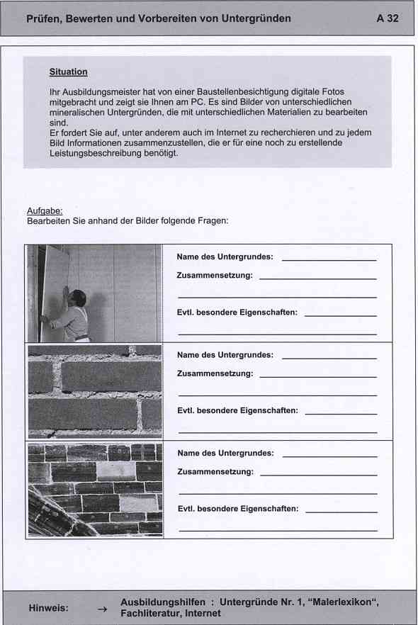 Malerfachbuch Berichtsheft für das Maler- und