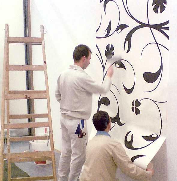 Tapeten Mit Muster Kleben : Wand-Konzepte mit innovativen Materialien und Tapeten. Malerblatt