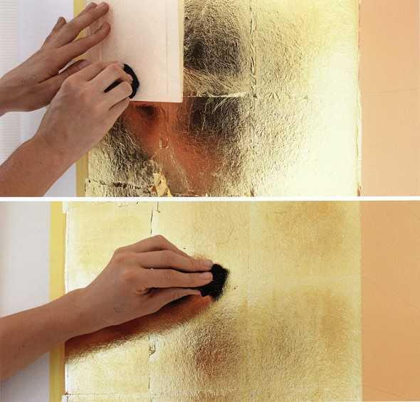 Vergolden mit Blattgold.  Malerblatt Medienservice