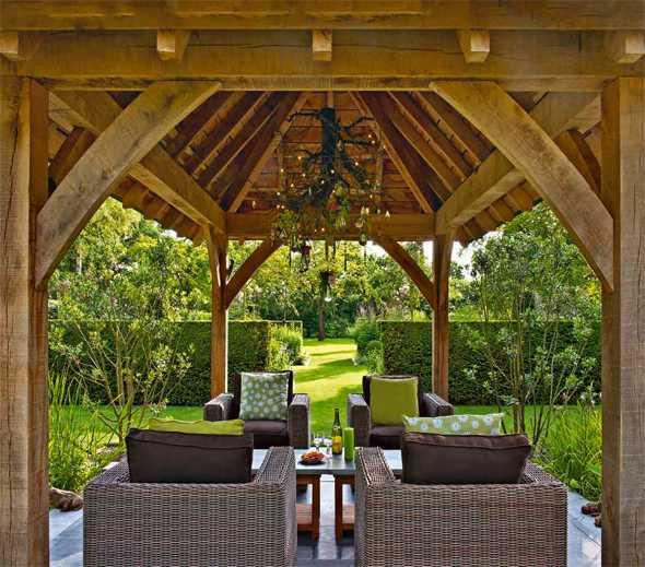 uberdachter sitzplatz im garten – rekem, Garten und Bauen