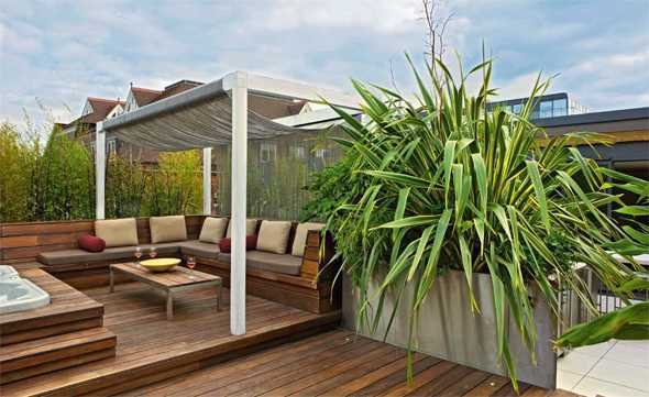 gartengestaltung mit holzterrasse | möbelideen - Gartengestaltung Mit Holzterrasse